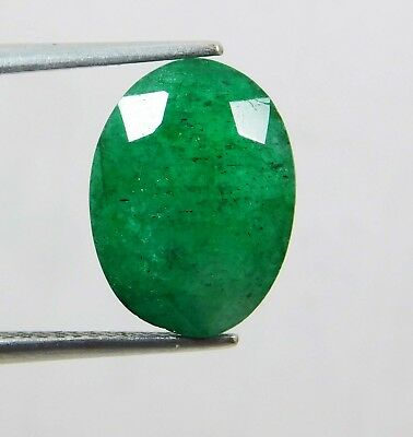 Natural 6.10 Ct Oval Cut Colombian Loose Emerald Gemstone. 11061 ERT