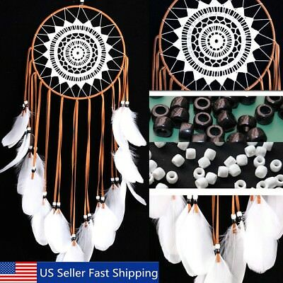 Dream Catcher Wall Car Hanging Decoration Handmade Large Feather Craft Ornament