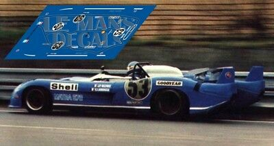 Calcas Matra MS670B Le Mans Test 1973 53 1:32 1:43 1:24 1:18 MS 670 decals