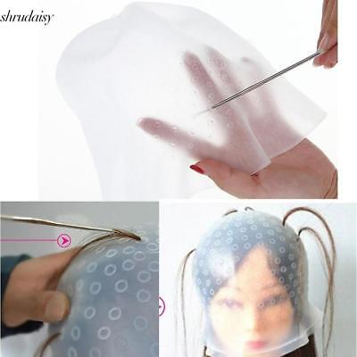 Reusable Silicone Hair Coloring Tools Highlighting Dye Cap with Metal S5DY