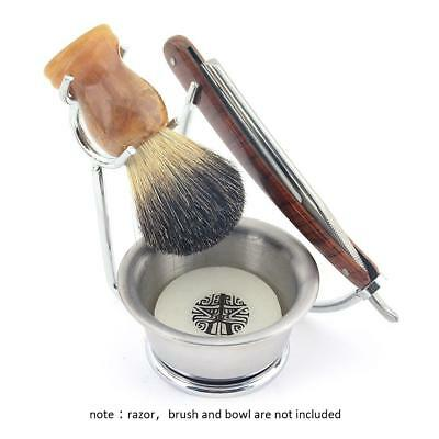 Mens Facial Grooming Kit Men Shaving Brush Bowl Set Shave Razor Holder Stand