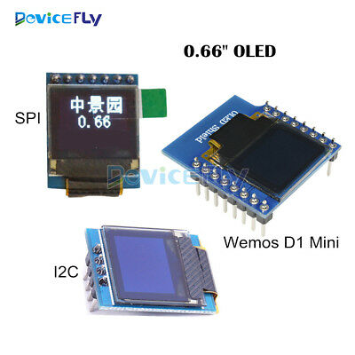 "0.66"" 0.66inch OLED Display Module  I2C SPI for STM32 WeMos D1 Mini OLED Shield"