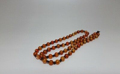 A  63pcs Agate Beads Necklace
