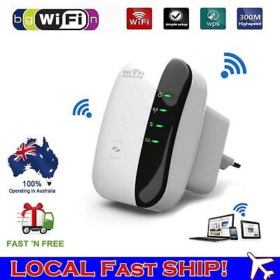 300Mbps Wifi Repeater N 802.11 AP Range Router Wireless Extender Booster AUS