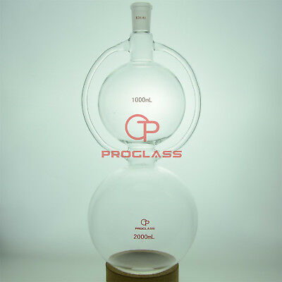 Proglass Glass 2000mL Pelican Distillation Flask 24/40 inner Taper Joint