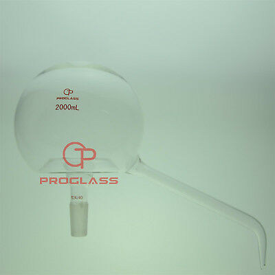Proglass Glass 2000mL Pelican Distillation head 24/40 outer Taper Joint