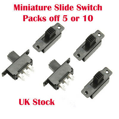DPDT Miniature Slide Switch 0.5 Amp with M2 Fixings