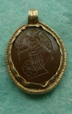 Antique gold. Metal detector finds,the ancient goddess Fortuna.