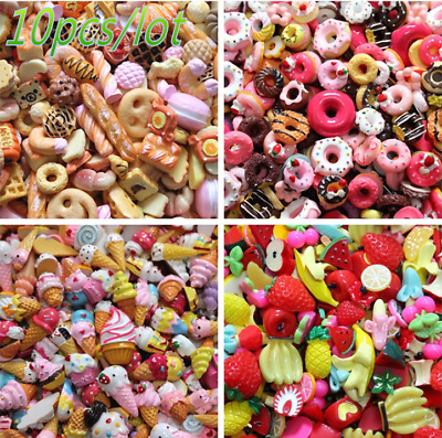 10pcs/lot  Dolls Lovely Mini Play Toy Food Cake Biscuit Donuts Miniature!
