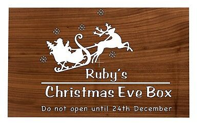 Christmas Eve Box Topper / Personalised Sticker / Decal / Vinyl