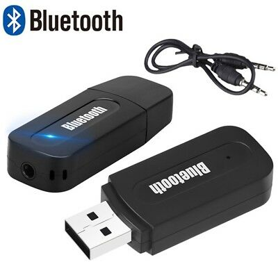Car Home 3.5mm USB Wireless Bluetooth Aux Stereo Receiver Adapter Audio Music