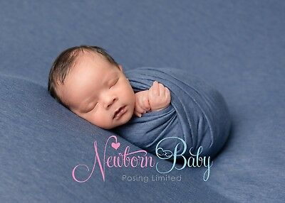 Newborn photography fabric and wrap backdrop bundle for newborn baby posing blue