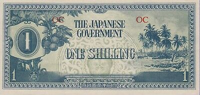 Oceania-Japanese Occupied,1 Shilling Banknote,1942 Uncirculated Cond,Cat#2-A