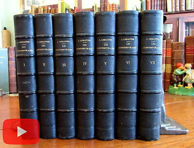 Jules LeMaitre French set 7 vols leather bindings 1898-1902 attractive