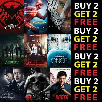 BEST TV SERIES POSTERS A3 A4 Card or Metal Plaque Show Print Home Wall Art Decor
