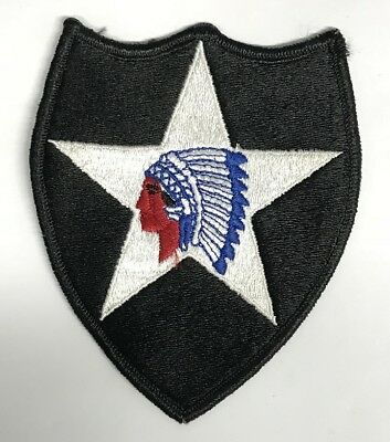US ARMY 2nd Infantry Division INDIAN HEAD Full Color Uniform patch Aufnäher