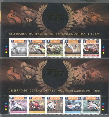 TT Races-  100 years Great Races mnh set Motorcycles -Isle of Man 2011