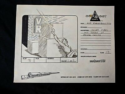 """SeaQuest 2032 Hand Drawn Production """"AND EVERYTHING NICE"""" Storyboard PG 13 #MS"""