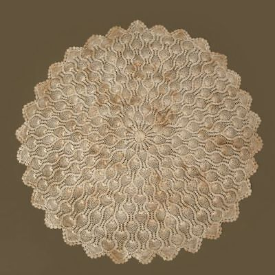 Your Hearts Delight Round Tablecloth - Hand Crocheted