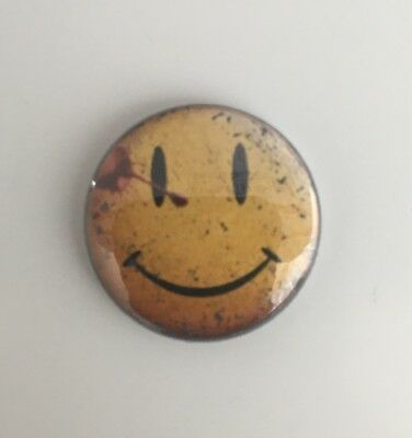 """Watchmen Smiley Face Faded   50mm   2/"""" Pin Badge Button"""