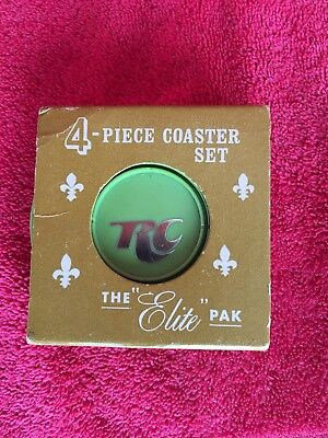 Vintage RC Royal Crown Cola 4 Piece Coaster Set The Elite Pak By Exel O Craft