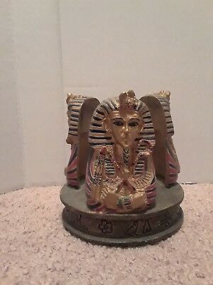 Wonderful Egyptian Sarcophagus Candle Burner Statue. Excellent Condition.