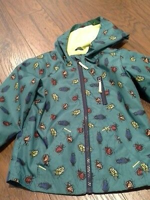 Cat and Jack rain jacket 3T boy girl bugs beetle design