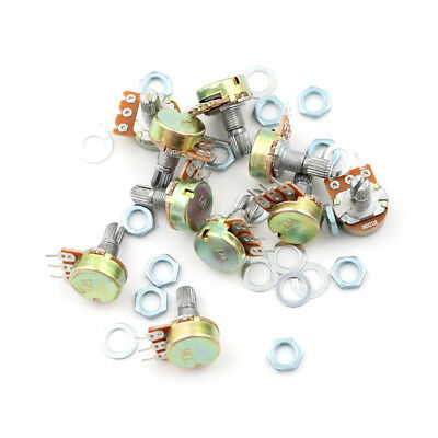 10X100K Ohm Linear Taper Rotary Potentiometer Panel Pot B100K 15mm 3Pin WH148 ßß