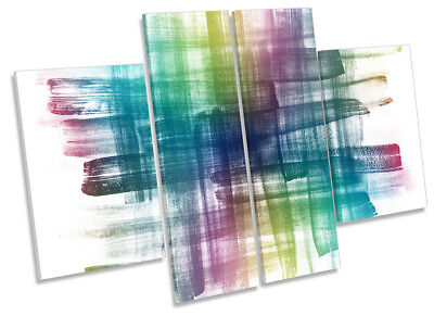 Abstract Scribbles Modern CANVAS WALL ARTWORK Four Panel Art