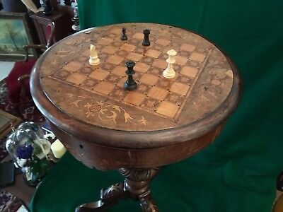 Antique Vintage Rare Chess Table Coffee Table Furniture