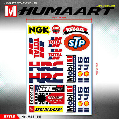 Vinyl Decals Stickers Sheet for Yoshimura Exhaust Dirt Bike Motocross Graphics