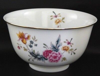 Dragonfly Flowers Porcelain Bowl Avon American Heirloom Independence Day c.1981