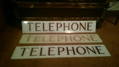 "VINTAGE K6 TELEPHONE BOX PERSPEX "" TELEPHONE "" SIGN ORIGINAL 1960,s RECLAIMED"