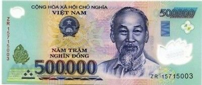 One 500 000 1 2 Million Vietnamese Dong Banknote Crisp Uncirculated