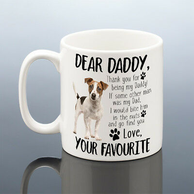 JACK RUSSELL Mug Birthday Gift Dog Daddy Cup Him Dad Dogs Owner Terrier Present
