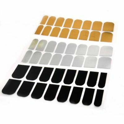 Decoration Stickers 16 Pcs Wraps Armour Golden Nail Art Patch Smooth Silver