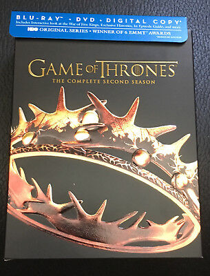 Game of Thrones: The Complete Second Season (Blu-ray/DVD, 7-Disc Set, no digital