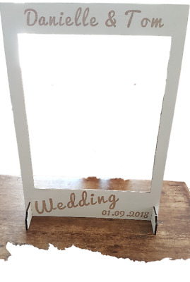 Wedding Selfie Frame - Photo Booth Frame. Personalised Wooden