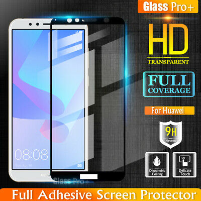 Full Coverage Tempered Glass Screen Protector for Huawei Y5 2019 Y6 2018 Nova 3i