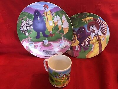 "1991 McDonald's Plates, Cup Plastic's Manufacturing Co. USA ""ReCycle Here"" 2 Sts"