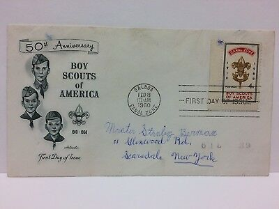 USA Canal Zone FDC Fist Day Cover 1960 Boy Scouts of America 50th Anniversary 4C