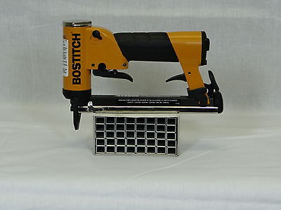 "Upholstery Stapler, Air ,  Bostitch 21680B, 80 Wire, & 1 Box  3/8""staples"