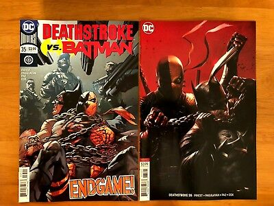 DEATHSTROKE #35 Main Cover + Francesco Mattina Variant Set DC Comics 2018 NM