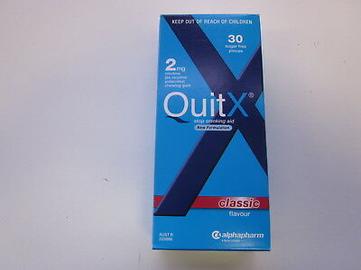 Quitx - Stop Smoking Aid Gum 2Mg - 30 Pieces - Classic - Exp 01/2019