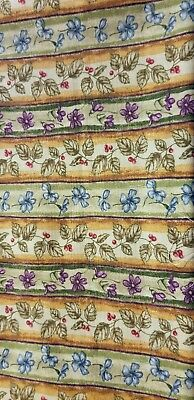 Longaberger brand Botanical Stripe fabric.  56 inches wide. Sold by the yard