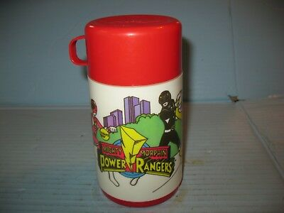 Mighty Morphin Power Rangers 1995 Plastic Thermos