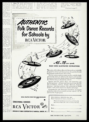 1954 RCA Victor Educational Services School Dance Records 78s & 45s RARE Vtg AD