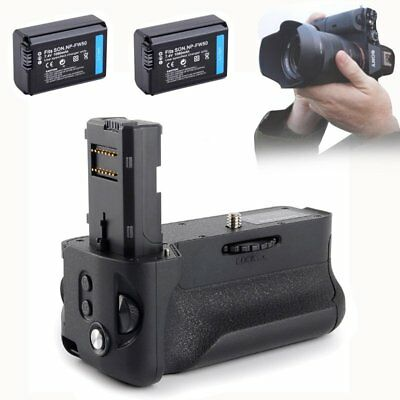 Vertical Battery Grip +2x NP-FW50 Battery For Sony A7II A7RII as Sony VG-C2EM