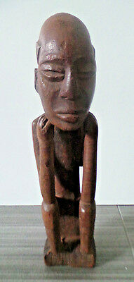 12 tall african kuba tribe wood male carving statue africa tribal