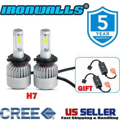 Ironwalls 1500W H7 LED Headlight Bulbs 162000LM 6000K For Chevrolet Ford Volvo